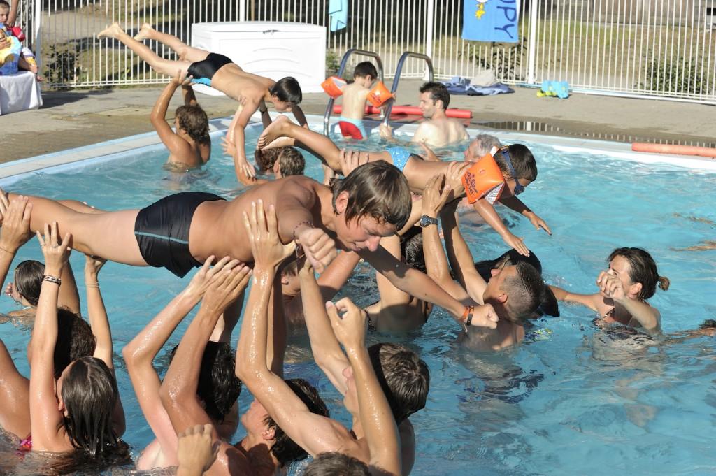 Ondres - jeux en piscine © Photo: Didier Delaine/CCAS